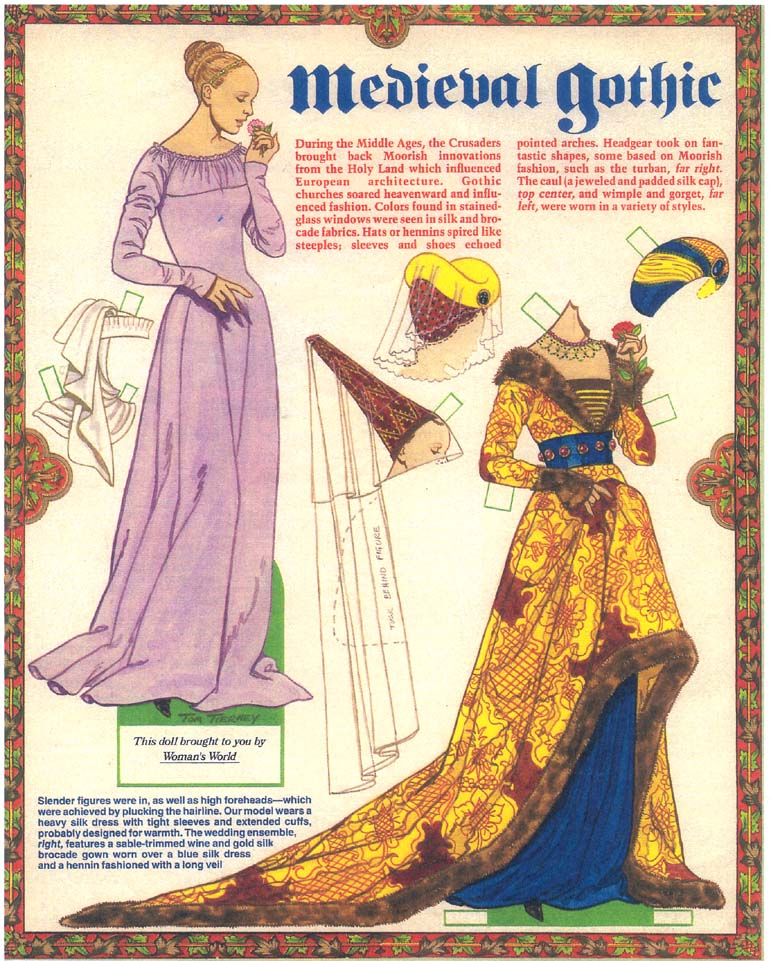 MEDIEVAL GOTHIC PAPER DOLL BY TOM TIERNEY